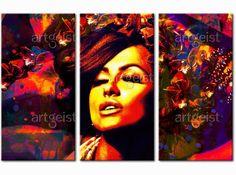 Zmysłowy i kolorowy portret wspaniale będzie komponował się z jasną kolorystyką we wnętrzu #portret #obraz #obraz na płótnie #obrazy #dekoracje #homedecor #ozdoby #dekoracjeścienne