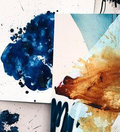 Different strokes of art by @heatherdayart #art #painting #splash #contrast #colorinspo #drip #hue