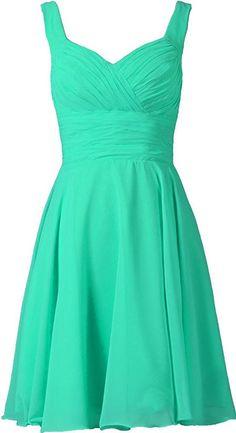 ANTS Women's V-neck Chiffon Bridesmaid Dresses Short Prom Gown  Price:  $29.99 - $59.99