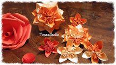 Di tutto un po'... bijoux, uncinetto, ricamo, maglia... ღ by tesselleelle ღ : Fiori....per tutti i gusti! - fiori origami