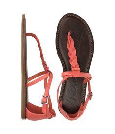#sandals #summerwardrobe  braided T-Strap sandals in People StyleWatch