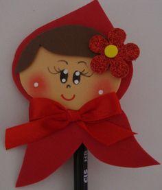 ponteira de lápis chapeuzinho vermelho