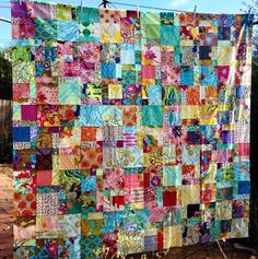 I reckon Anna Maria Horner (AMH) has a real knack for making gorgeous and colourful fabrics. Many of them remind me of modern bohemian style. Scrap Quilt Patterns, Beginner Quilt Patterns, Quilting For Beginners, Scrappy Quilts, Easy Quilts, 9 Patch Quilt, Quilt Blocks, I Spy Quilt, Anna Maria Horner