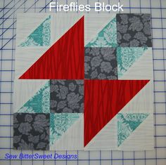 Fireflies quilt block tutorial 8