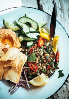 marinated lentils