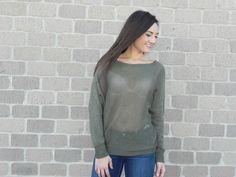 Apricot Knit Dolman Sleeve Knit Sweater