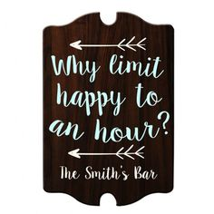 A couple that drinks together stays together! If you know how to have a good time with your significant other then this sign is perfect for your home! This wood tavern shaped sign features a classic look that is always in style and looks great anywhere. Home Bar Signs, Diy Home Bar, Home Bar Decor, Bars For Home, Diy Bar Sign, Custom Bar Signs, Happy Hour, Wood Tavern, Custom Home Bars