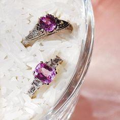 Pink Sapphire rings handmade by Ricardo Basta Fine Jewelry