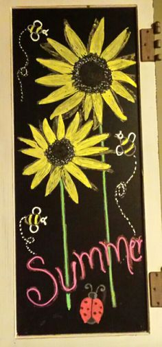 Summer chalkboard More