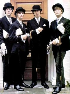 Paul, Ringo, George, John, great color photo of all of them!