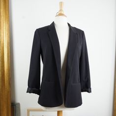 Silence + Noise Black Boyfriend Blazer Used in Good Condition, has some fraying inside the lining of the jacket. To be honest you can really tell until you start opening the folds. Otherwise everything else looks great. Hardly any wear, it's been sitting in my closet for awhile and I need to let it go! No Trades No PayPal offers welcome! silence + noise Jackets & Coats Blazers