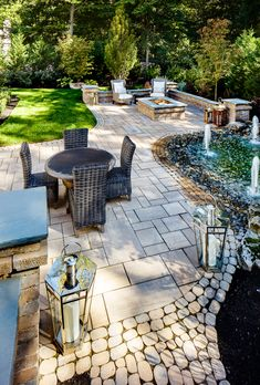 Backyard ideas. Traditional patio inspiration and landscape design.  Garden ideas and outdoor fire pits.