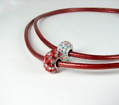 Red pave crystal necklace  Double strand eco by ShopPretties, $60.00 #ctteam