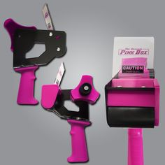 Pink 2-Inch Tape Gun On Sale for $16.99 with FREE SHIPPING  Extra comfortable Rubber Grip Side Loading Adjustable tension