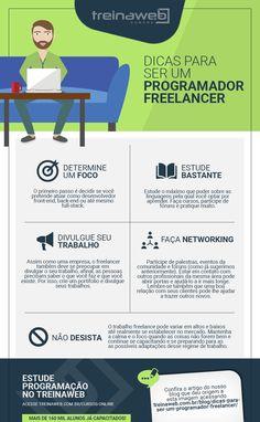 #Infográfico - Dicas para ser um programador freelancer