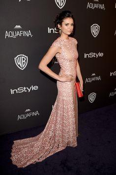 Nina Dobrev à l'afterparty des Golden Globes