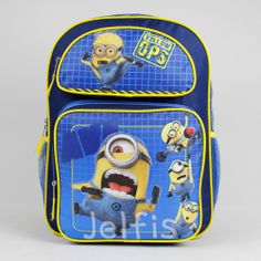 6a4990c9bb72 Despicable Me 2 16  Backpack - Large Minions Yellow OPS Boys School Book Bag