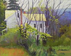 """House with Golden Roof by Jean Hirons Pastel ~ 16"""" x 20"""""""