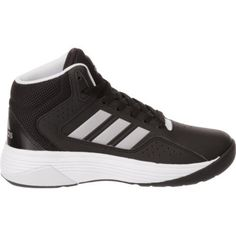 e4f58a580b29 Adidas Kids  Neo Cloudfoam Ilation Basketball Shoes (Core Black Matte  Silver Footwear White
