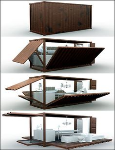 24 Shipping Container Buildings - Life inside shipping container architecture: there's something so eco-chic and enviably unique about it, even though, when it comes down to it. Container Bar, Container Home Designs, Container Restaurant, Shipping Container Design, Cargo Container, Shipping Containers, Coffee Container, Building A Container Home, Container Buildings