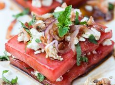 Готовим дома, местная еда, рецепты: Три необычных арбузных салата