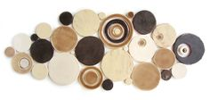 Handmade Bubbles Mosaic Tile in Chandelier Blend #circletile #arttile #kitchentile #bathroomtile