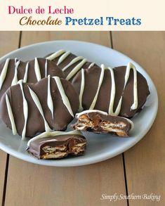 Dulce de Leche Chocolate Pretzel Treats | Simply Southern Baking