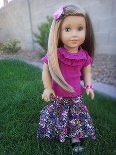 free pattern for ruffled maxi skirt for american girl doll