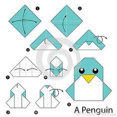Instrucciones paso a paso cómo hacer papiroflexia un pingüino