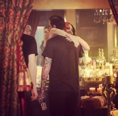 Ashley Costello and Chris Motionless. It's too cute.