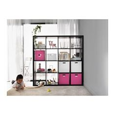 IKEA - KALLAX, Shelving unit, black-brown, , You can use the furniture as a room divider because it looks good from every angle.