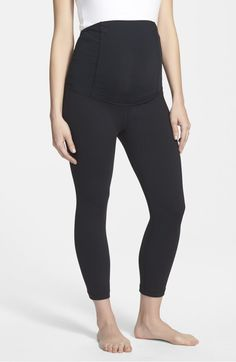f55032b3632 Active Maternity Capri Pants with Crossover Panel