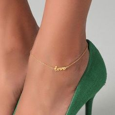 I'm obsessed with ankle bracelets, I would definitely wear this with heels or sandals...    Shop link: http://www.cost21.com/-p-2475.html      Bracelets (855) >  cheap fashion bracelet >  Fashion Chic Love anklets