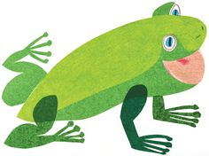 "eric carle ""brown bear, brown bear, what do you see? Eric Carle, Brown Bear Book, Green Frog, Pet Rocks, Frog And Toad, Hungry Caterpillar, Art Museum, Illustrators, Book Art"