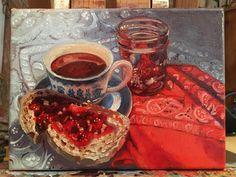Work in progress: Saskatoon Jam anyone? My Images, Original Art, Toast, Fine Art, Life, Visual Arts