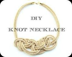 how to make knot necklace - Google Search