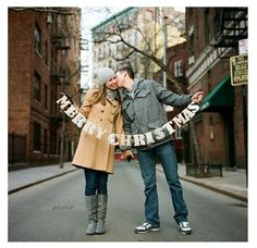 Christmas Card Idea for couple  You  Trey have to do this, its too cute!!!!