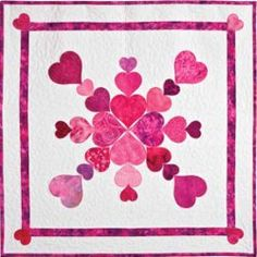 Heart of My Heart Valentine Quilt pattern by AccuQuilt. Put together this simple valentine quilt pattern as a quick decoration for Valentine's Day.