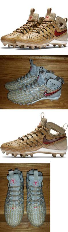 Footwear 159154: Nike Huarache V Lax Elite Lacrosse Cleats Men S Us 8.5 Khaki Red 807120-200 New -> BUY IT NOW ONLY: $54.99 on eBay!