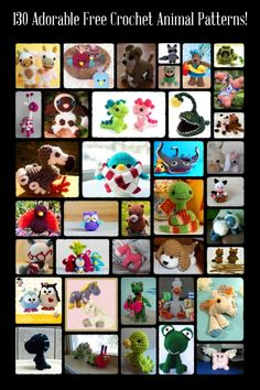 130 Adorable Free Crochet Animal Patterns!