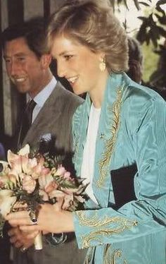April 22, 1987: Prince Charles and Princess Diana attending a fashion show at the Ritz Hotel, Madrid, Spain.
