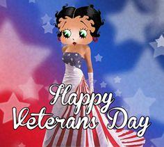 Betty Boop Veterans Day