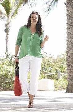 Splendid Roll Sleeve Shirt #plus #size