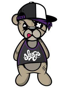 Slugs Crazy Bear Tee updated by Jason Arroyo , via Behance