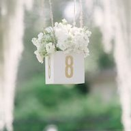 Love these hanging table numbers from Every Last Detail.
