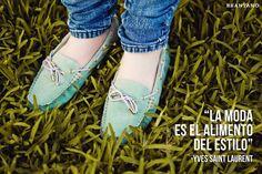 """""""La #moda es el alimento del #estilo."""" - Yves Saint Laurent #quotes #frases #FrasesDeModa #PV2013 #mocasines #turquesa #zapatos #Brantano"""