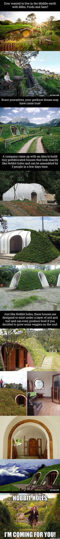 Pre-Fab Hobbit Houses And You Can Actually Live There