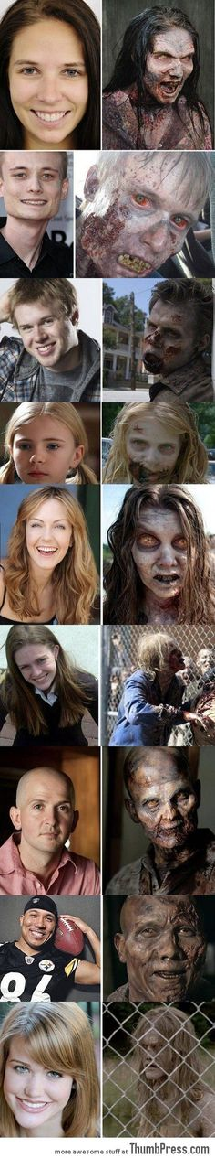 Walking dead.... What makeup does/the transformations!!!!!