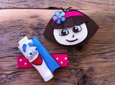 Come on Vamonos... Dora and Map Ribbon Sculpture Set por patyg13