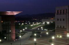 CSUSM Library Plaza at night by Daniel Lichterman, via Flickr